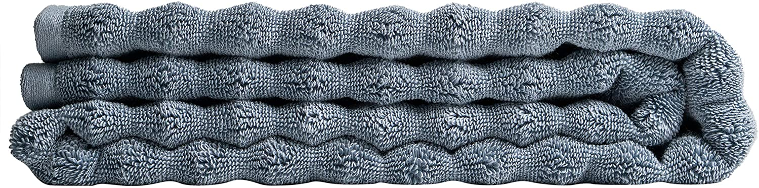 Nutrl Home Classic Bath Towel - Antimicrobial 100% Supima Cotton (Blue, 55 x 28 Inch) Premium Luxury Bath Sheet Towels Perfect for Hotels, Travel, Bathrooms, Spa, and Gym