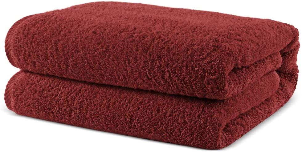 Towel Bazaar 100% Turkish Cotton Multipurpose Towels-Large Bath Sheet/Beach Towel/Bath Towel, Eco-Friendly (Oversized 40x80 inches, Cranberry)…