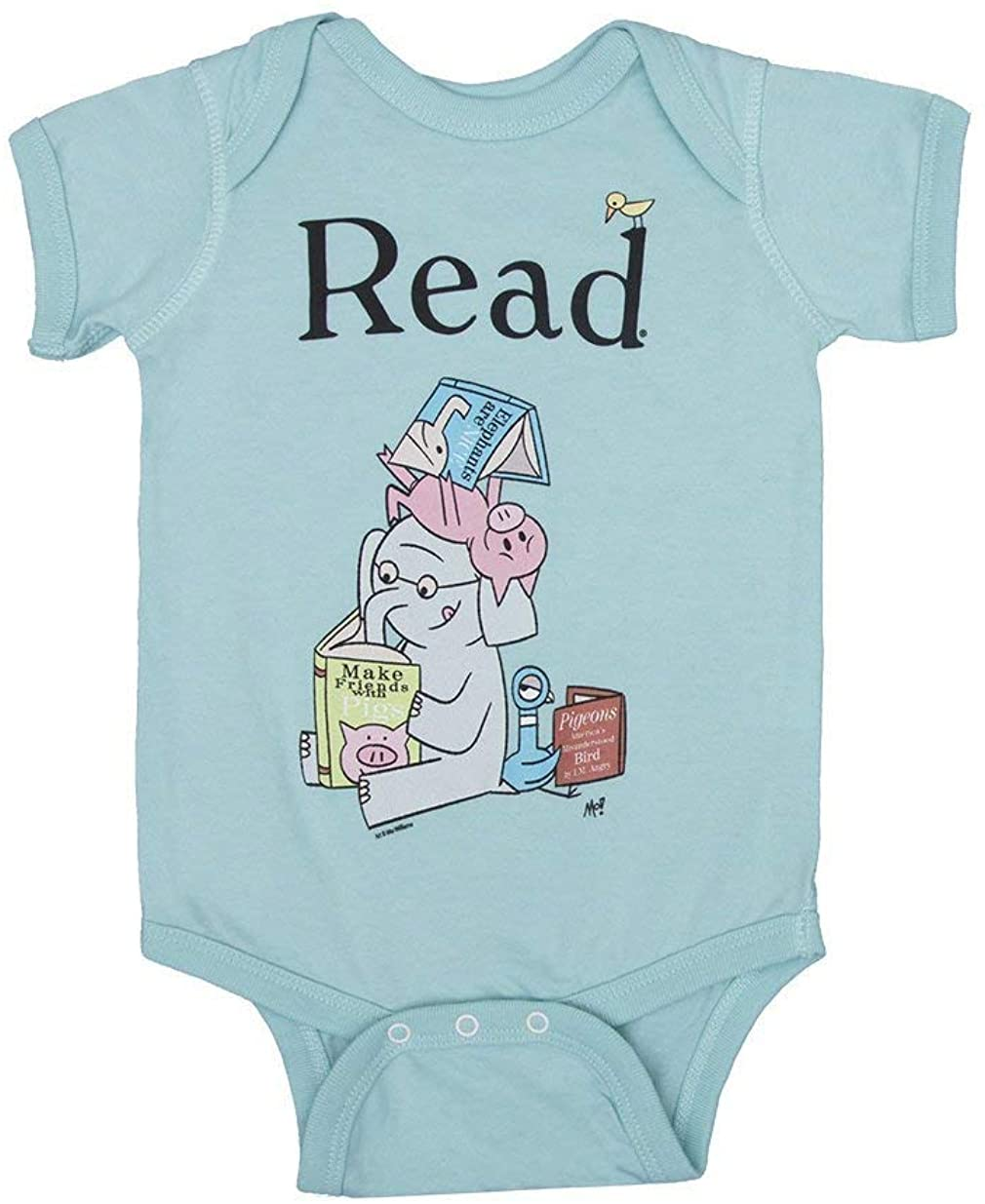 Out of Print Elephant & Piggie Read Baby Bodysuit 18 Months