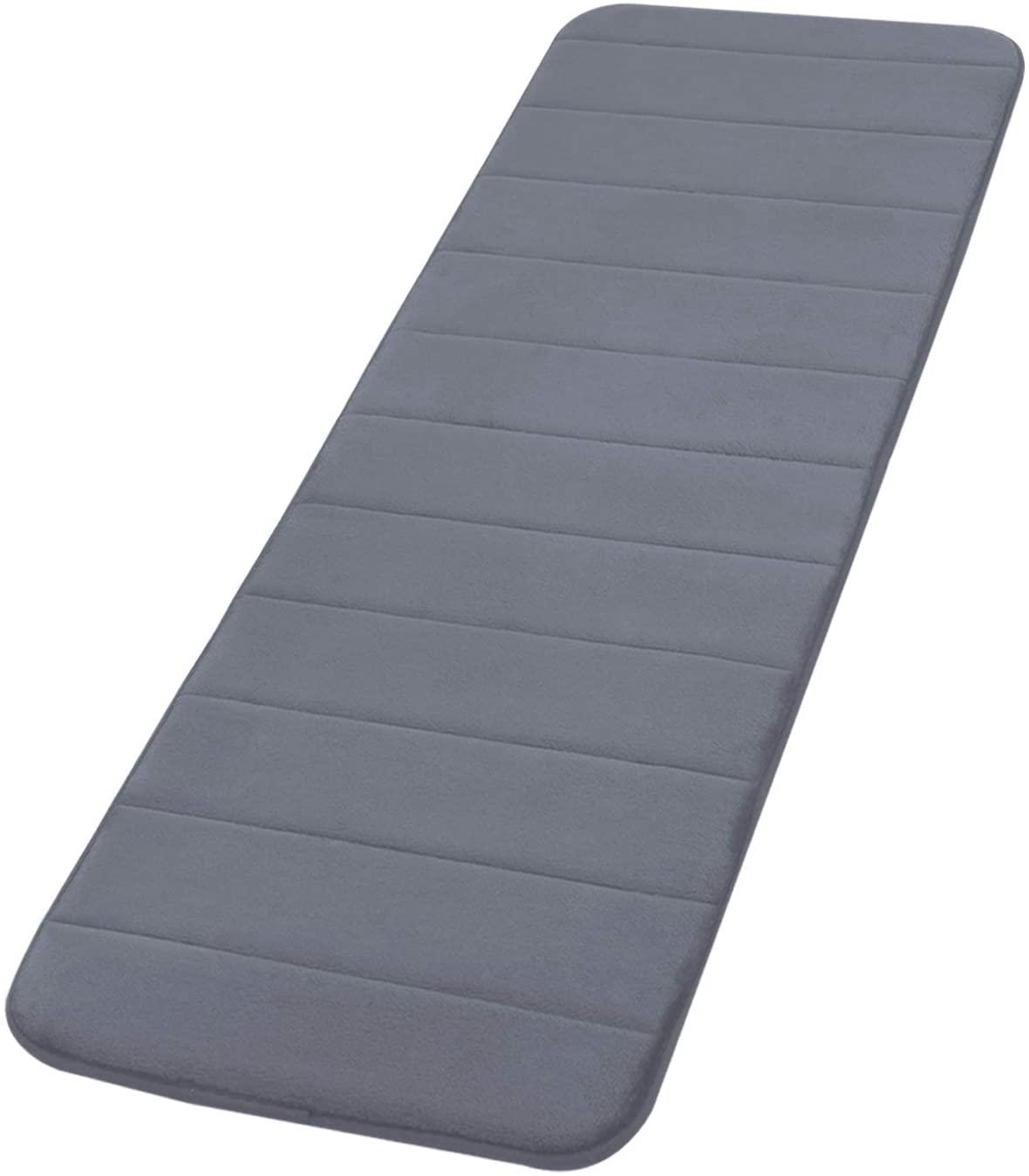 AOACreations Non Slip Soft Memory Foam Bathroom Runner Rug Mat Striped for Bath Kitchen (47