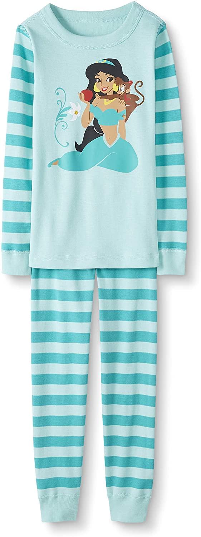 Hanna Andersson Disney Princess Kids Organic Cotton 2-Piece Long-Sleeve Pajama Set