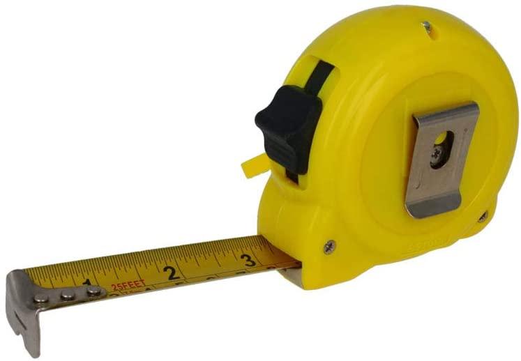 Utoolmart 7.5M Length Measuring Tape Plastic Round Case Retractable Measure Tape 25mm 1Pcs
