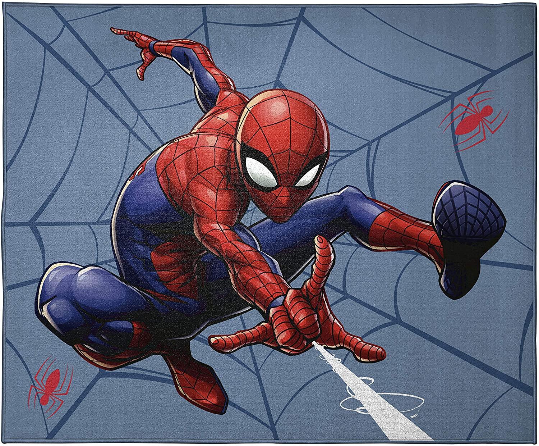 Jay Franco Marvel Spiderman Go Time Kids Room Rug - Large Area Rug Measures 4 x 5 Feet (Offical Marvel Product)