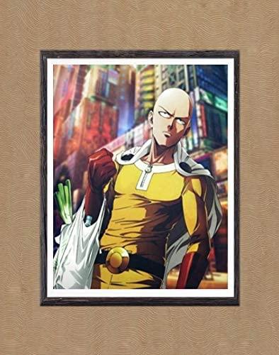 Manga Anime One Punch Man Hero Saitama Fabric Canvas Art Prints,8 x 10 Inches,No Frame