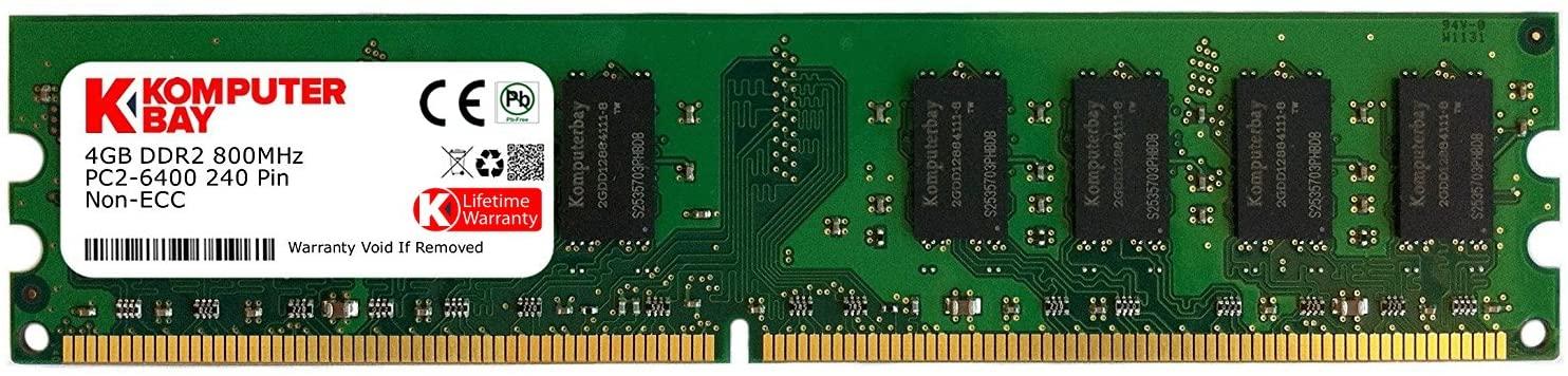 KOMPUTERBAY 4GB DDR2 DIMM (240 PIN) 800Mhz PC2 6400 PC2 6300 4 GB - CL 5