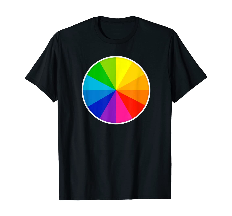 Color Wheel Palette Artist Painter Designer Art T-Shirt