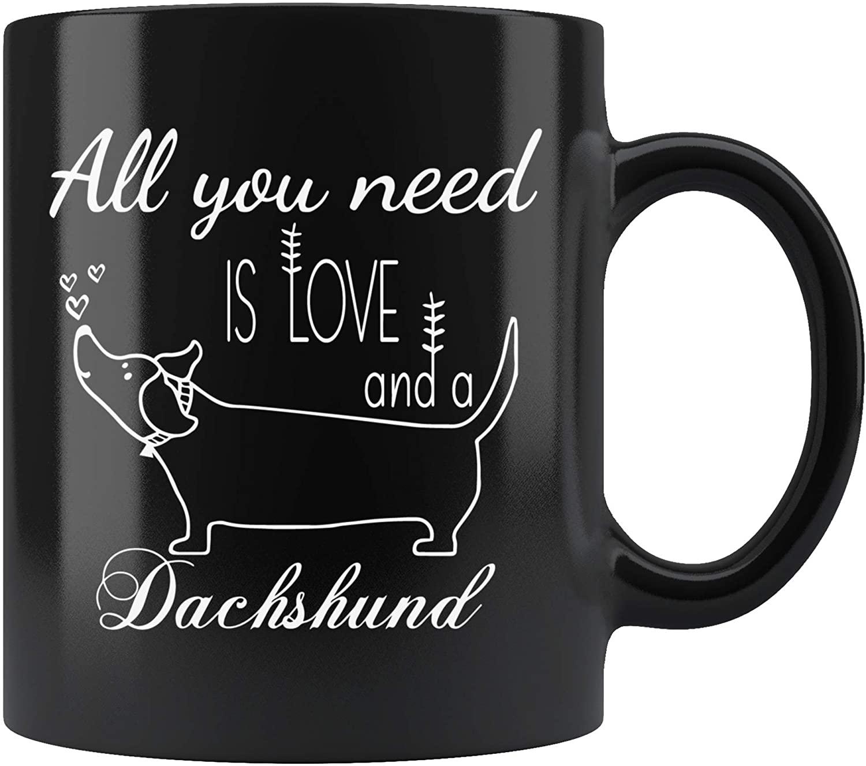 Dachshund Gifts for Dachshund Lovers Funny Coffee Mug Dog Gag Gift for Dad Mom Gift Mugs Tea Cup 11 oz White