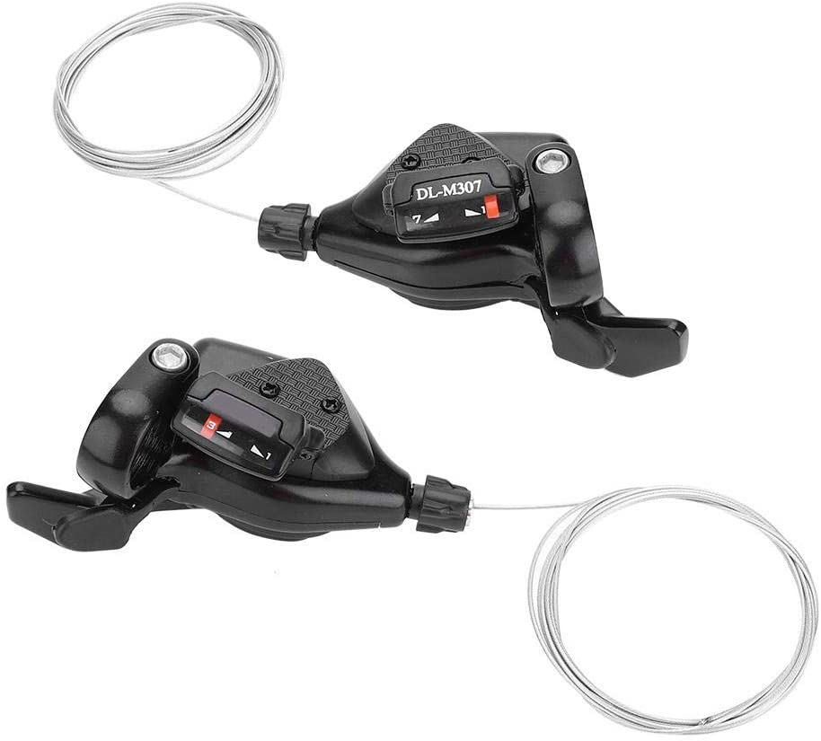 VGEBY 1Pair Bike Shifters, Bike Thumb Gear Shifter with Inner Cables (3x8Speed)
