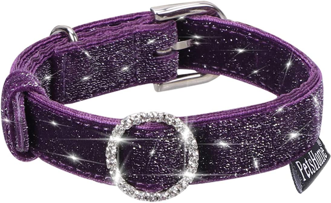 PetsHome Cat Collar, Dog Collar, Premium PU Leather Adjustable Collars for Small Dog and Cat