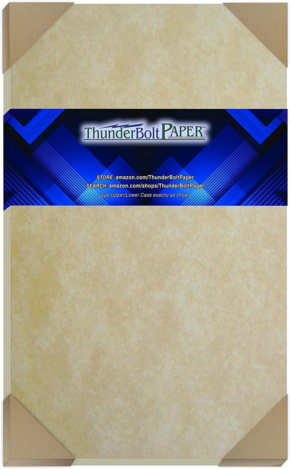 100 Old Age Parchment 65lb Cover Paper Sheets Cardstock Weight Colored Sheets 8.5X14 Inches Legal and Menu Size - Printable Parchment Semblance