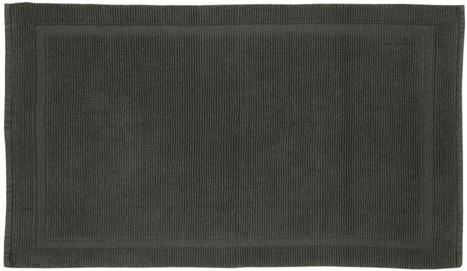 Grund Certified 100% Organic Cotton Bath Mat, Charleston Series, 21-Inch by 34-Inch, Slate Gray