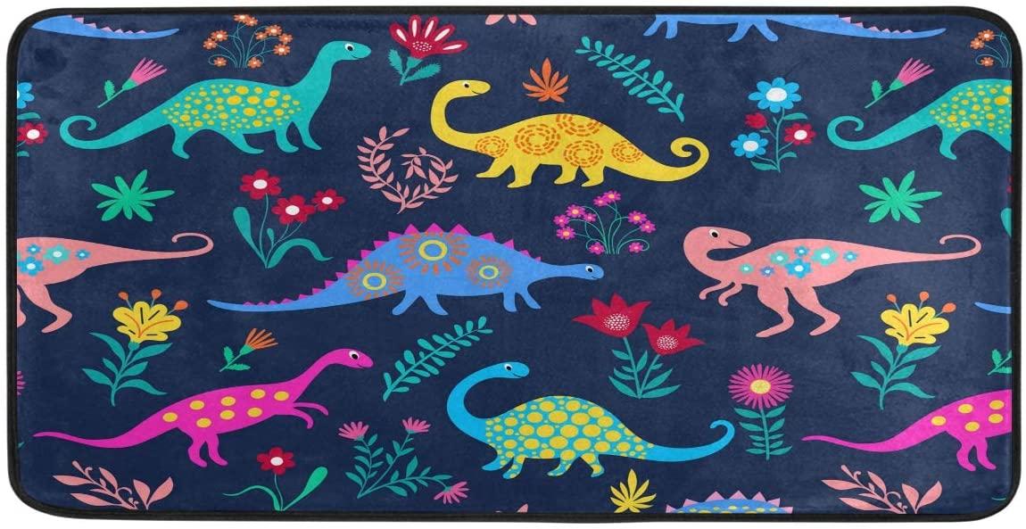 Dinosaurs Cute Kids Pattern Kitchen Mat Non-Slip Rugs Bath Doormat Runner 39