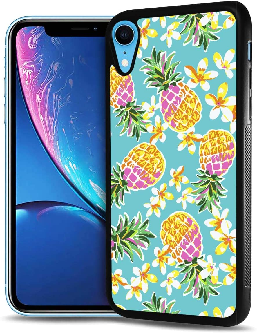 for iPhone Xs, iPhone X, Durable Protective Soft Back Case Phone Cover, HOT12667 Pineapple Tropical 12667