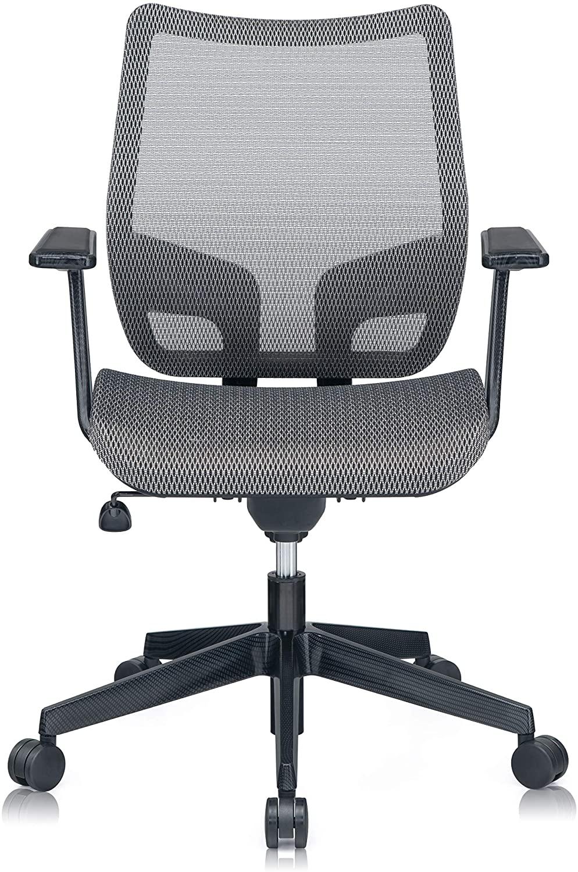 Mesh3 GTR Ergonomic Office Chair Mesh Seat for Home Office Desk Chair BIFMA Grey Color C6-GR