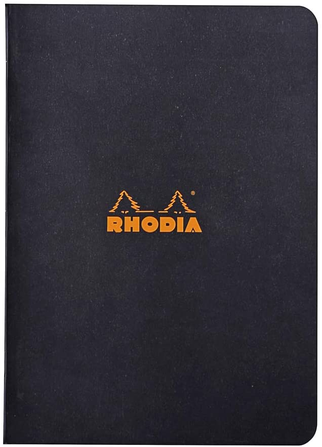 Rhodia Staplebound Notebook 6x8.25 Black