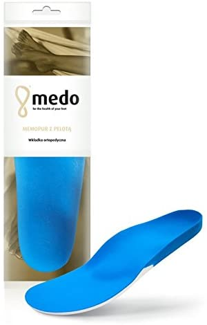 Premium Orthotic Insoles with Arch Supports, Metatarsal and Heel Cushion, Medo Memopur, All Sizes (38 EUR / 7 US / 5 UK/Women)
