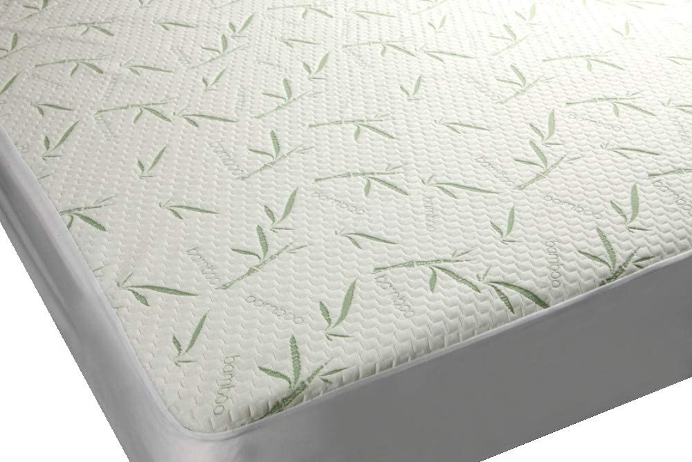 Mezzati Bamboo Premium Plush Mattress Protector - Soft, Quiet, Comfortable Topper, Cover - Hypoallergenic, Deep Fitted Pocket (Twin Size)