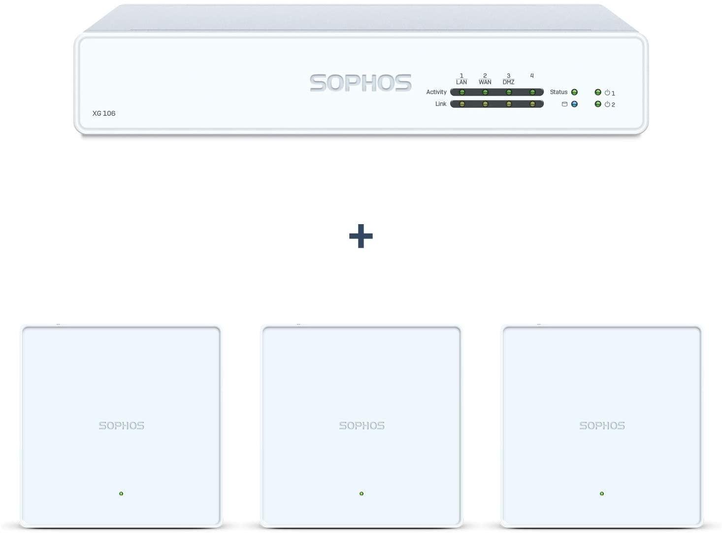 Sophos XG 106 rev.1 Firewall Bundle with APX 740 (3-Pack) Access Point (XG1ZTCHEK+A740TCHNF)
