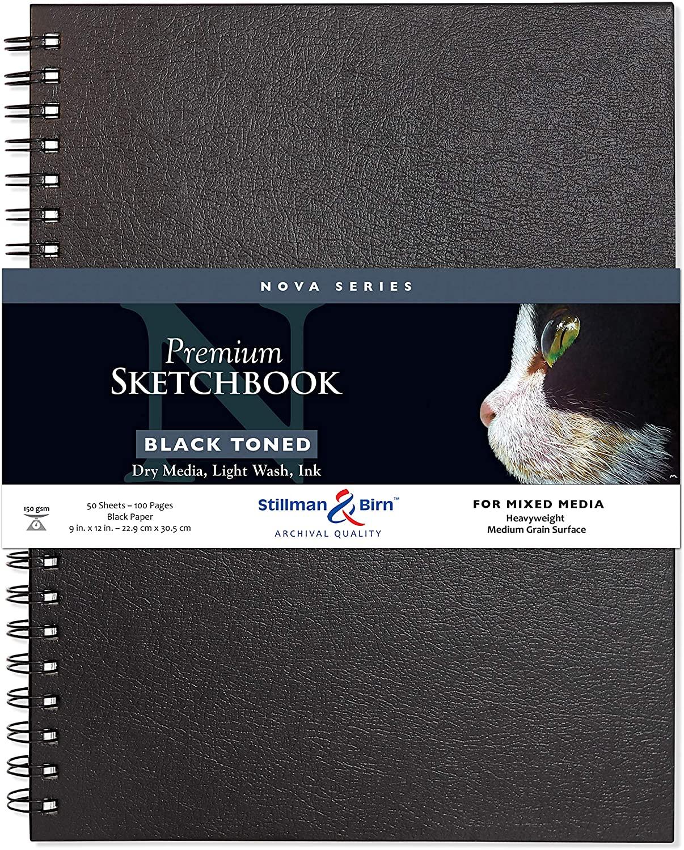 Stillman & Birn Nova Series Grey Wirebound Sketchbook, 9