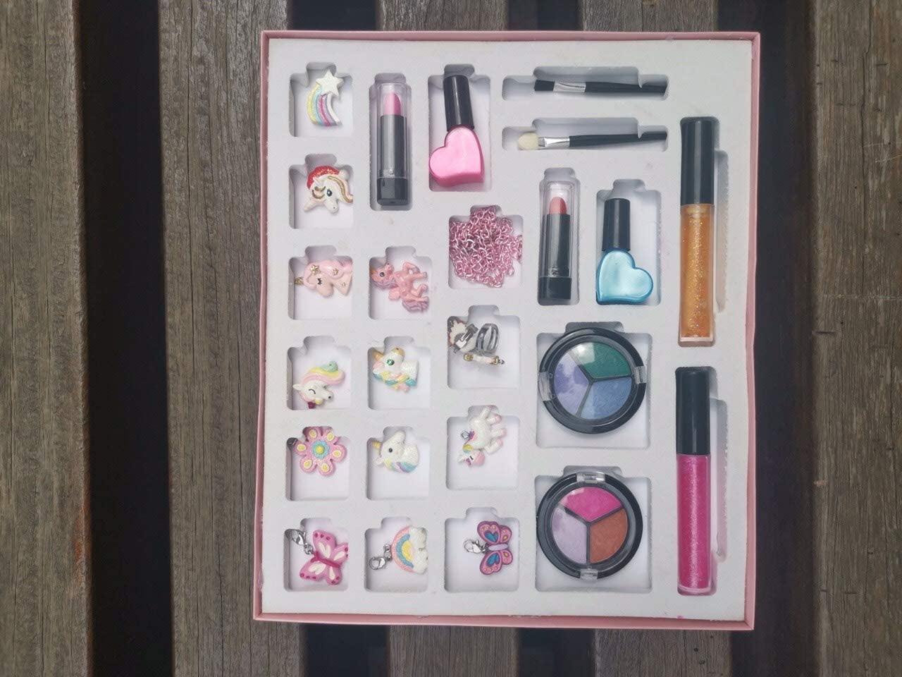 MJartoria Advent Calendar Makeup for Christmas 2020-Advent Calendar for Girls, Women, Teens Beauty Makeup Lipstick, Butterfly Necklace Pendants Gifts