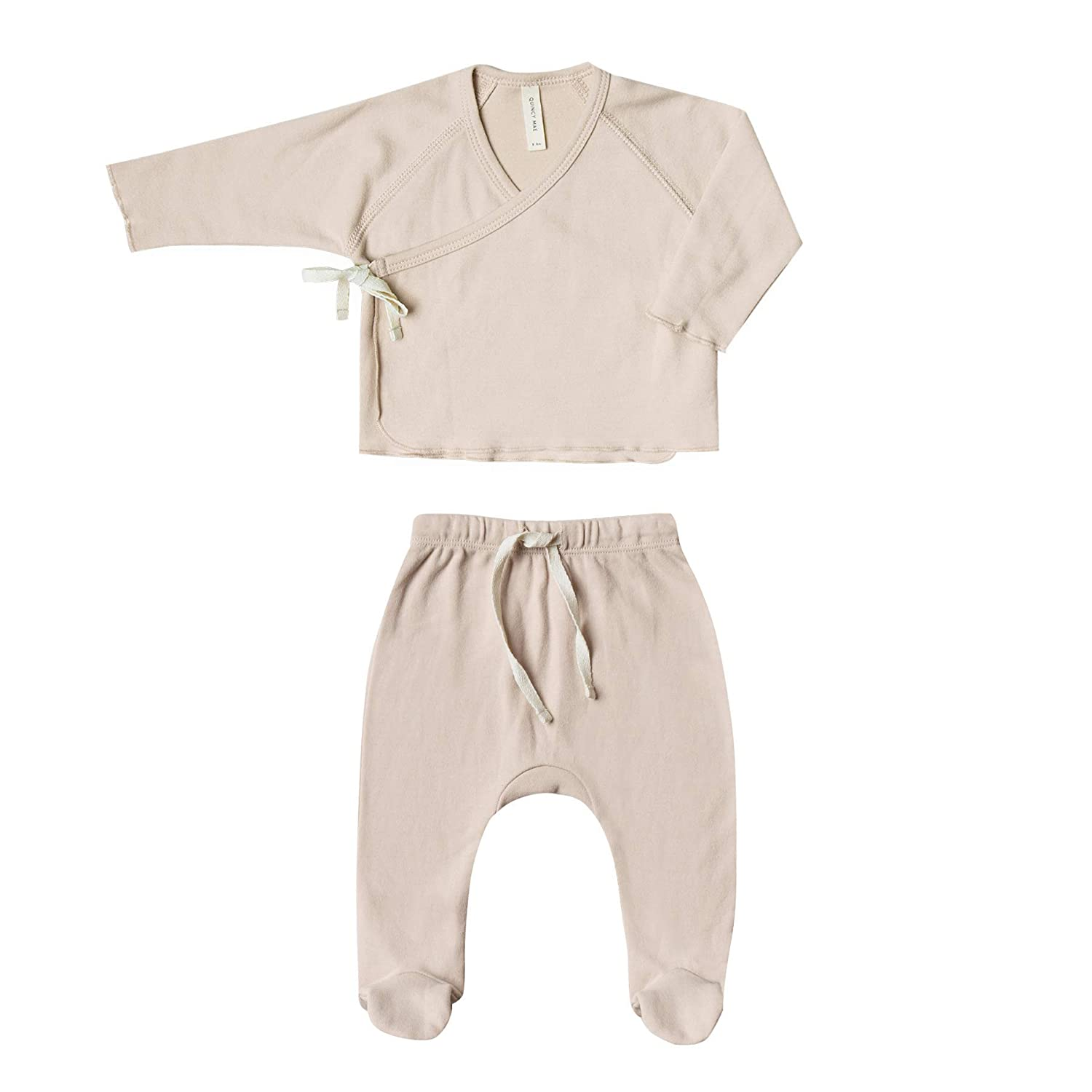 Quincy Mae Rose Kimono TOP Footed Pant Set