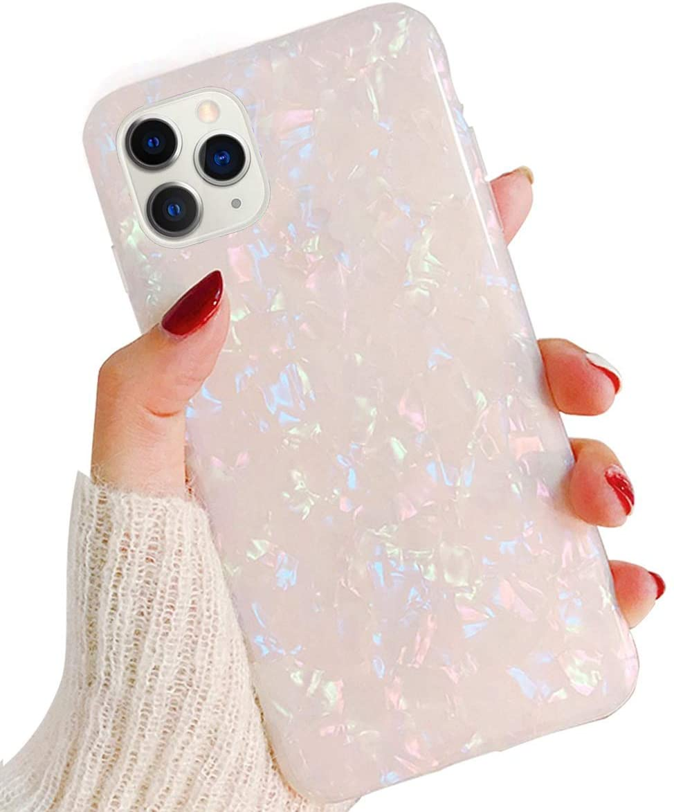 J.west Case for iPhone 11 Pro Max 6.5-inch, Cute Ultra Thin [Tinfoil Series] Macaron Color Bling Lightweight Soft TPU Case Cover for Apple iPhone 11 Pro Max 2019(Colorful)