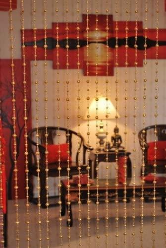 Asian Home Beautiful Acrylic Beaded Curtain - Golden Balls