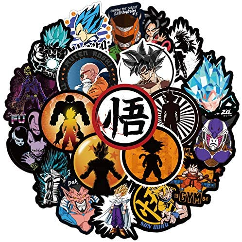 Dragon Ball Z Stickers-100pcs, Cool Stickers for Boys,Girls,Adults,Kids,Sticker for Game Console,Guitar,Hydro Flask,Laptop,Cups,Car,Motorcycle,Bicycle,Vinyl Stickers Pack.
