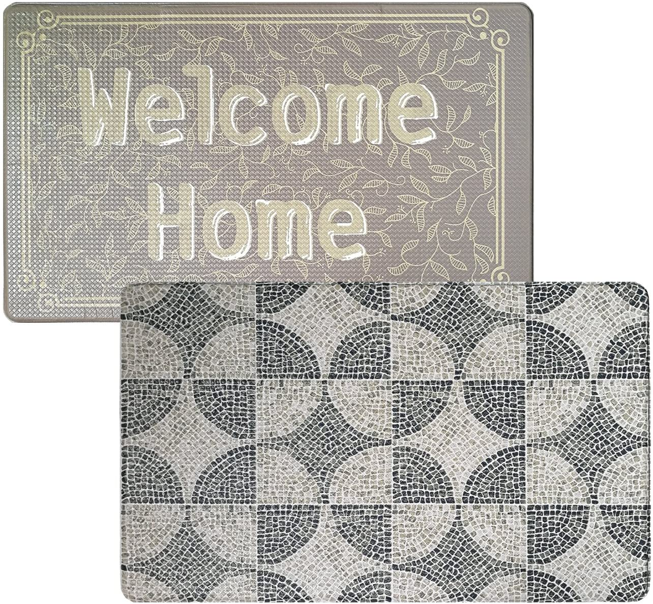 Art3d Premium Double-Sided Anti-Fatigue Kitchen Mat. Multi-Purpose Standing Mat for The Kitchen, Bathroom, Laundry Room or Office, 18