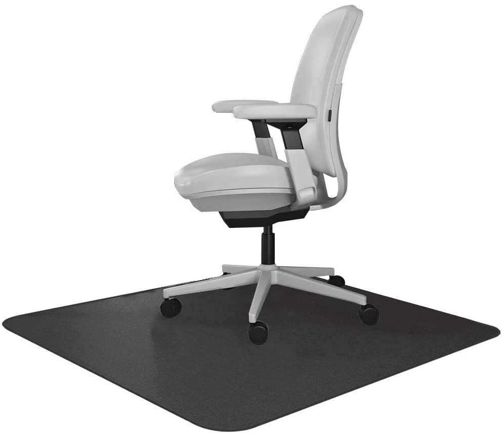 Resilia Office Desk Chair Mat – for Carpet (with Grippers) Black, 47 Inches x 57 Inches, Made in The USA