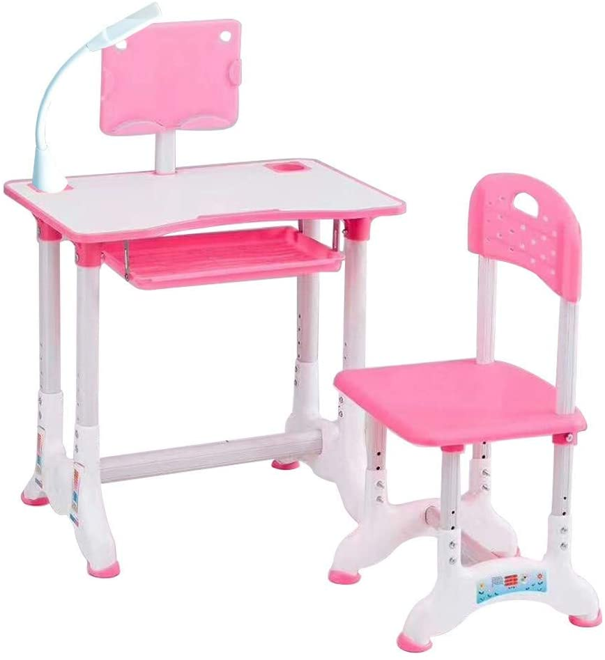 iMakCC_Children's Table Desk, Children's Combined Study Table Plastic Work Table Can Be Raised and Lowered iMa2047 PK