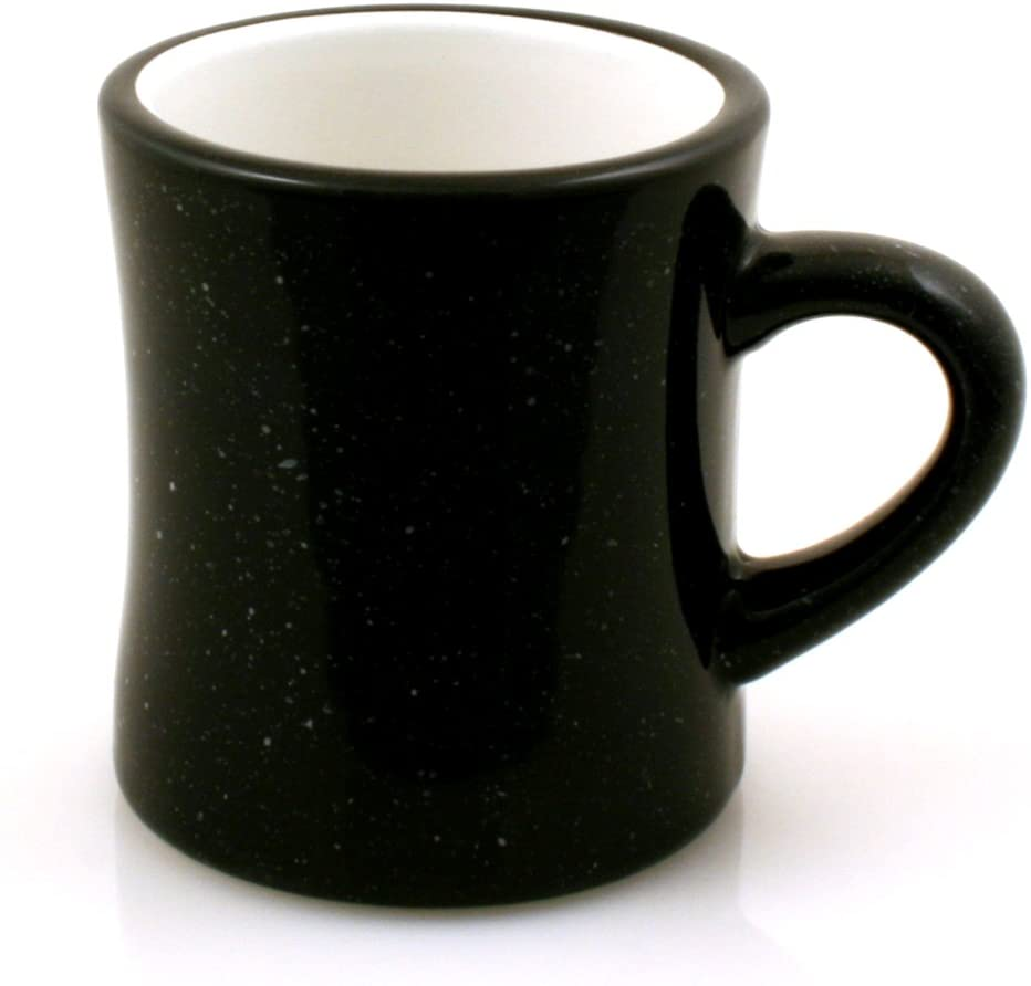 Marble Creek Ceramic Diner Campfire Mug, 10oz (Single) (Black)