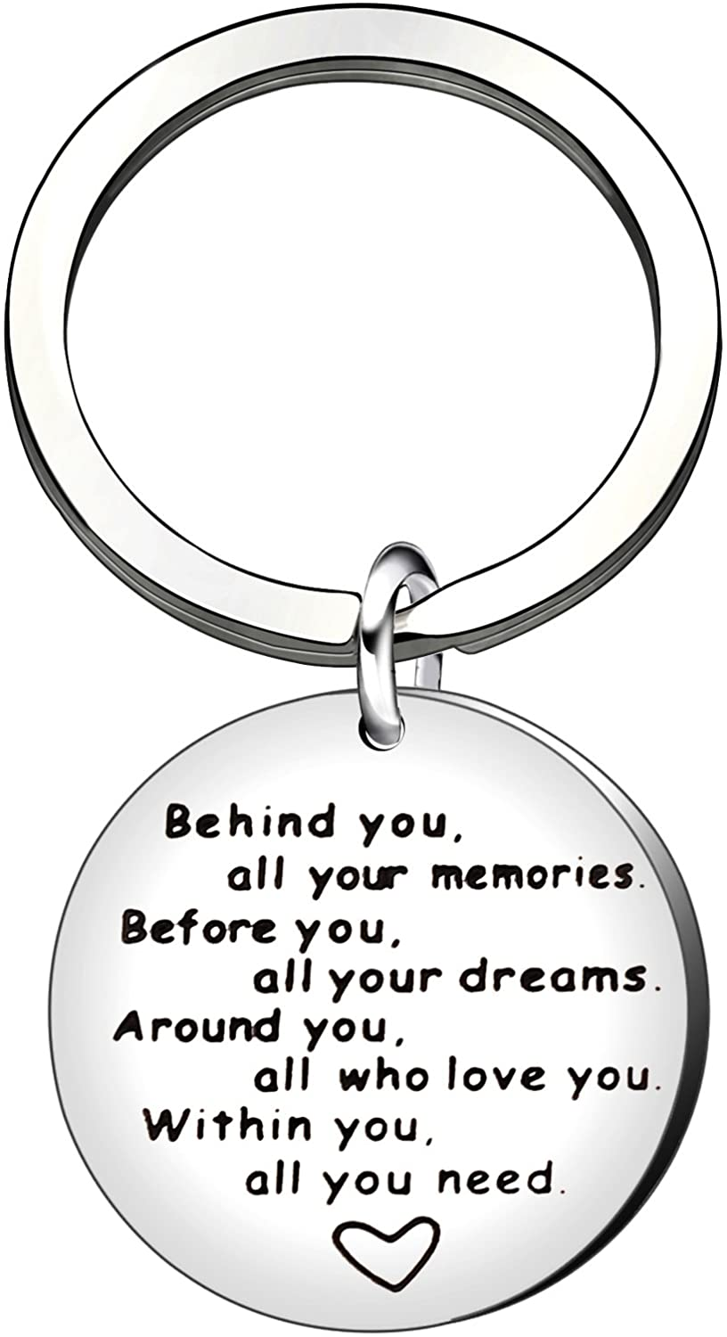 Graduation Keychain Inspirational Graduation Gifts Best Friend Behind You All Memories Before You All Your Dream