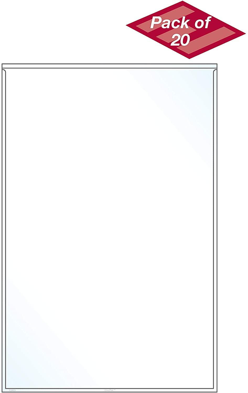 EnvyPak Legal Size Pocket/Holder Self-Adhesive, Top Loading, Clear - Holds 8.5