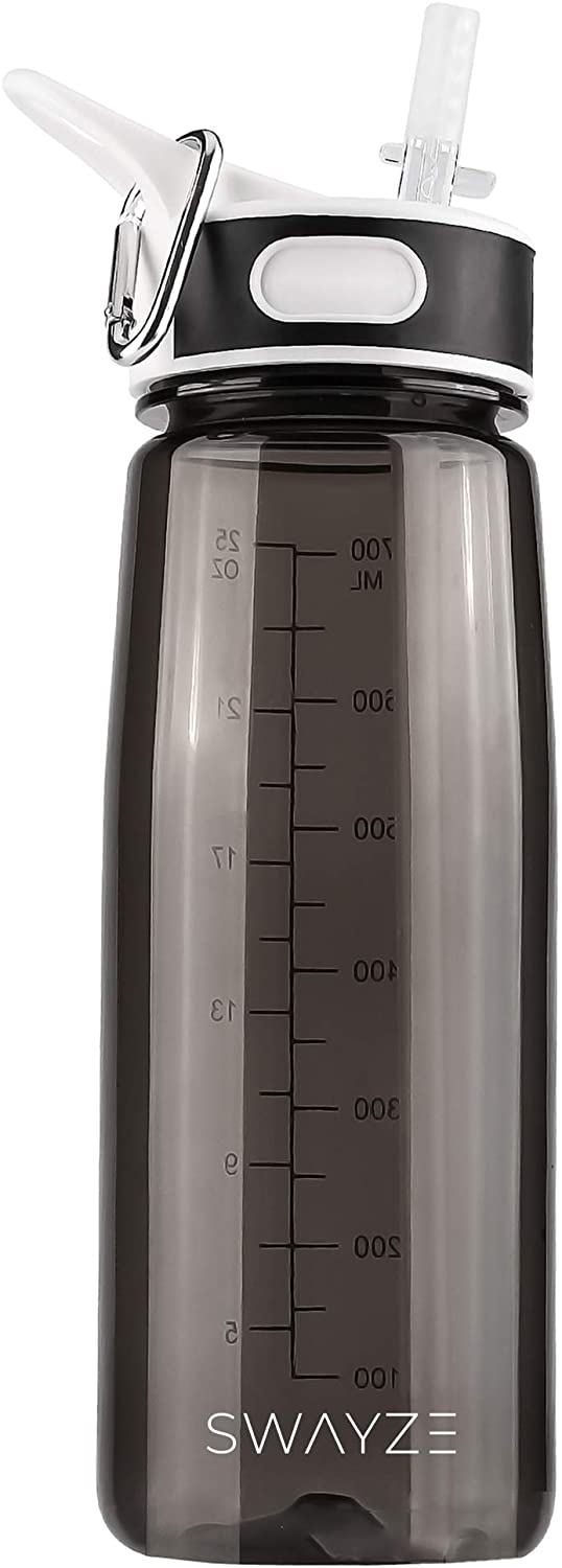 Swayze Water Bottle with Straw - 800ml Drinking School Water Bottles Gym Bpa Free - Cycling Sports