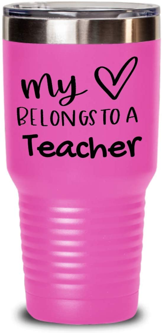 My heart belongs to a teacher tumbler