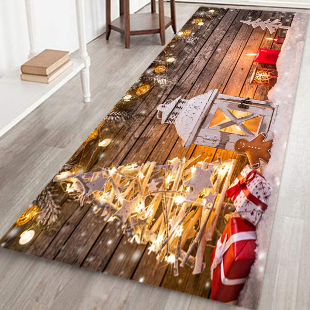 Ardorlove Merry Christmas Rugs Xmas Carpet Christmas Area Rug Christmas Patterned Floor Mat Non-Slip Door Mat for Home Kitchen Living Dining Room Playroom Decoration