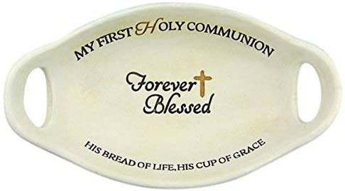 Forever Blessed My First Holy Communion Rosary Holder Bowl, 4 1/4 Inch