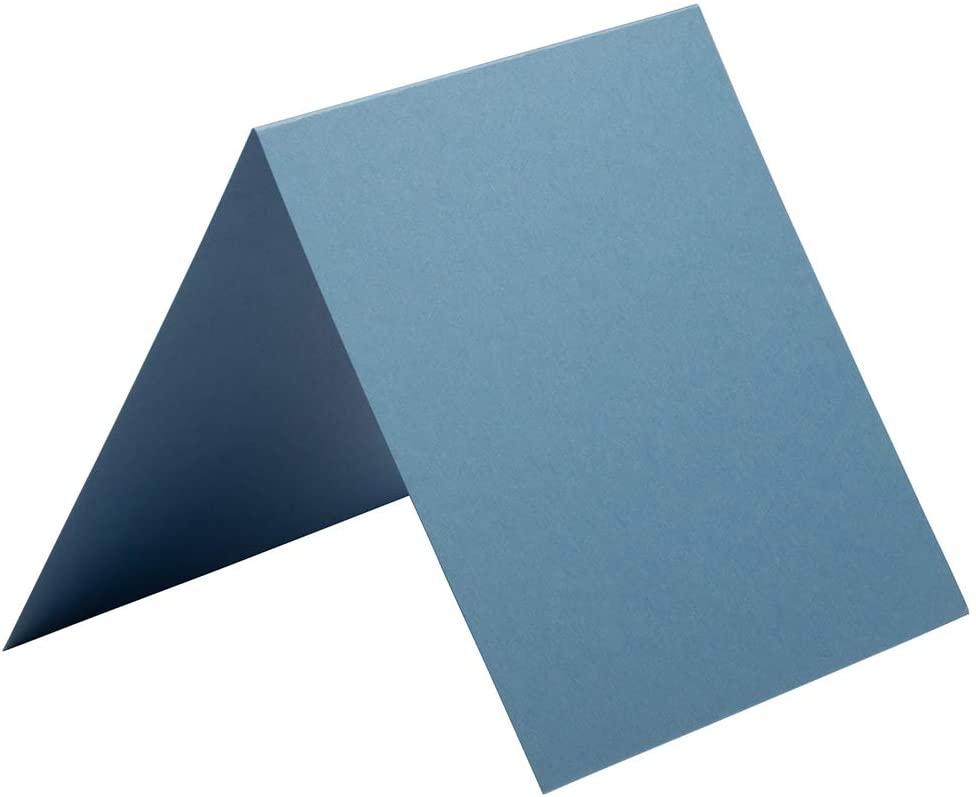 JAM PAPER Blank Foldover Cards - 5 3/4 x 5 3/4 - Iridescent Neutron Blue - 50/Pack