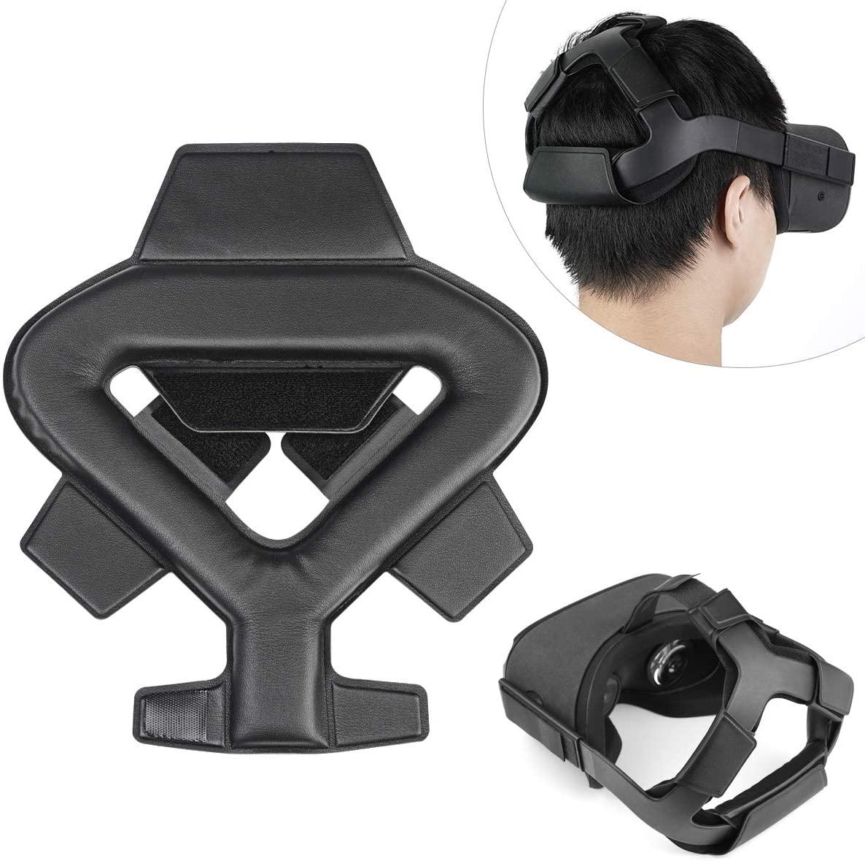 KIWISMART Head Strap Foam Pad Cushion for Oculus Quest VR Headband Replacement Accessories Comfortable PU Leather Head Cushion & Reduce Head Pressure
