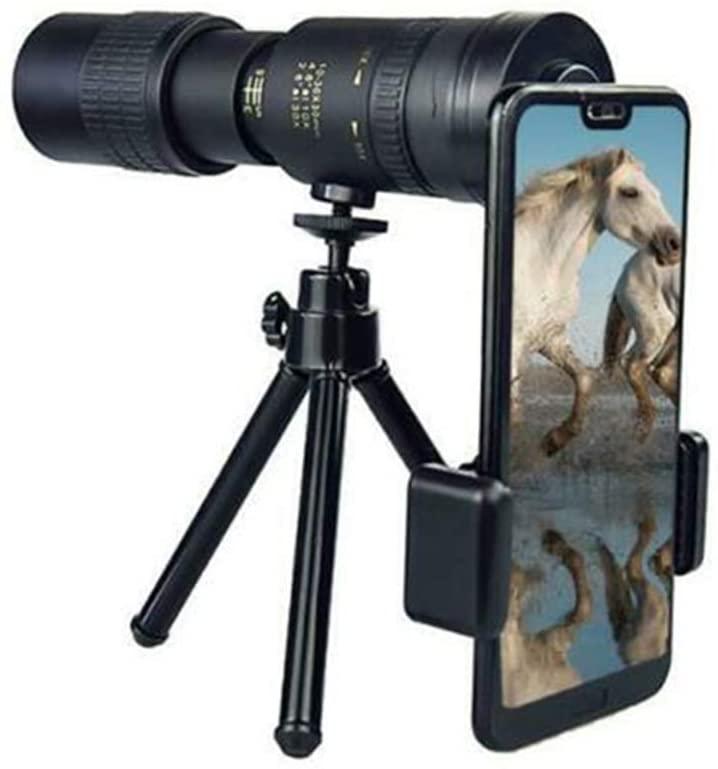 Duomu High Definition Monocular 4K 10-300X40mm Super Telephoto Zoom Monocular Telescope for Beach Travel