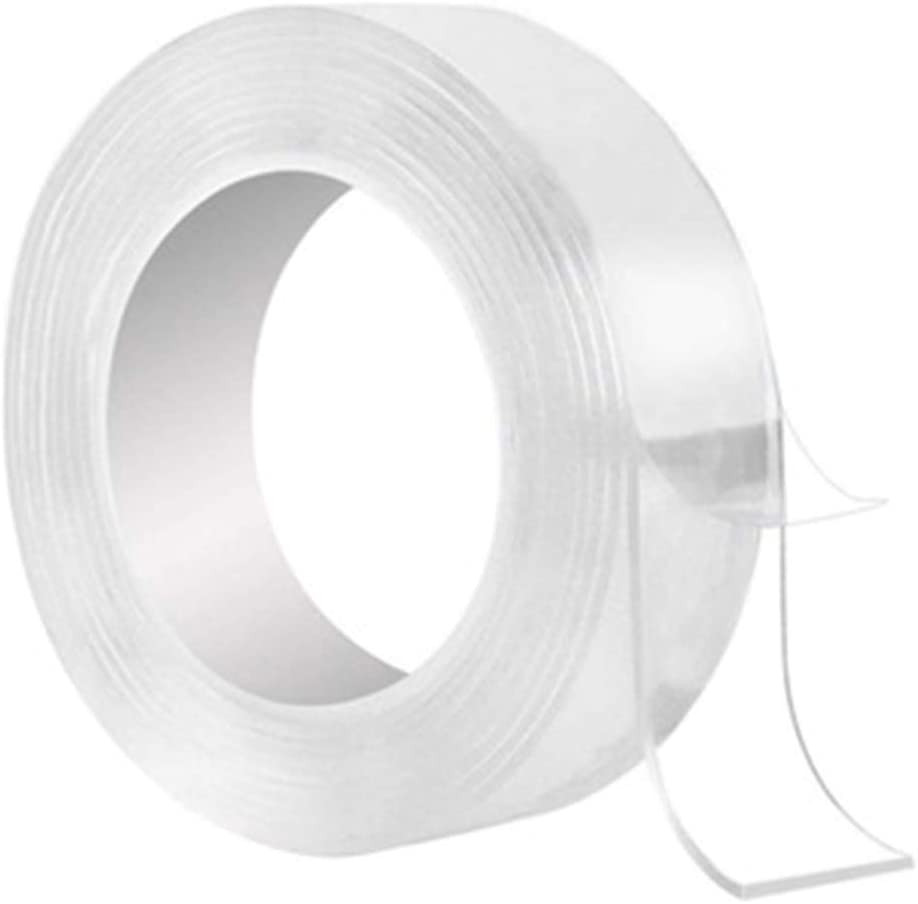 Heavy Duty Electrical Double Sided Tape,Waterproof Nano Magic Clear Adhesive Poster Painters mounting Silicone Plumbers Scotch Tape Drywall Hanging Silica Gel Insulation Caulk Heat Resistant sealant