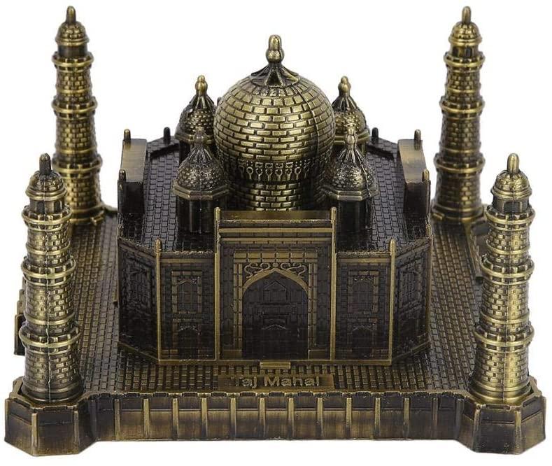 Hztyyier Souvenir Building Taj Mahal Model Metal World Famous Landmark Building Model Home Office Decor Ornaments