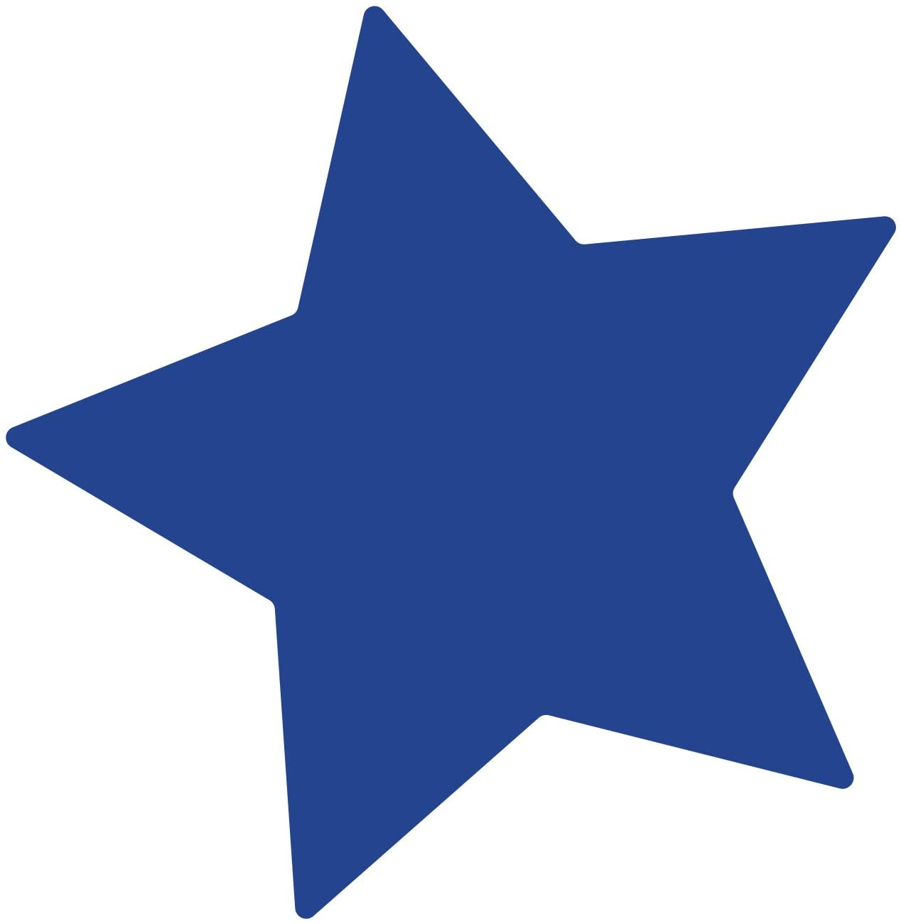 LiteMark Removable Blue 4 Inch Star Decal Stickers Walls, Ceiling Floor - Pack of 15
