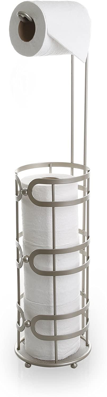 BINO 'The Luna' Free Standing Toilet Paper Holder, Nickel