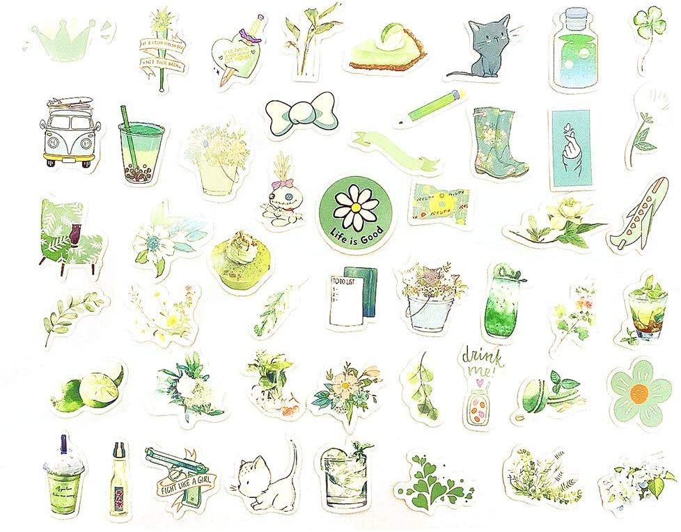 Doraking 50PCS Boxed Peel-Off Summer Themed Washi Stickers for Scrapbooking, Decoration, Bujo