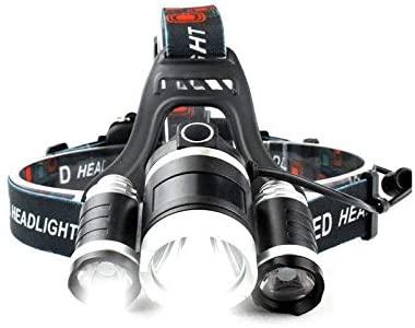 Headlamp Led USB Led Headlight Headlight 10000 lumens 3NEW xml t6 Rechargeable Head Lamp Flashlight Bicycle Camping Hiking Light
