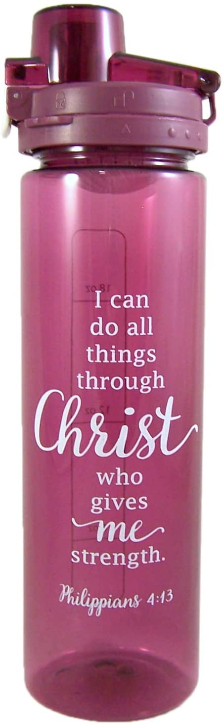 Living Grace I Can Do All Things Through Christ Water Bottle, 24 Ounce
