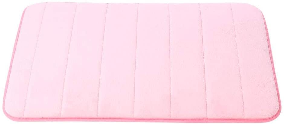 uxcell Memory Foam Bath Rug Soft and Thick Bath Mat, Non-Slip, Machine Washable, Absorbent Bathroom Rug Carpet, 24