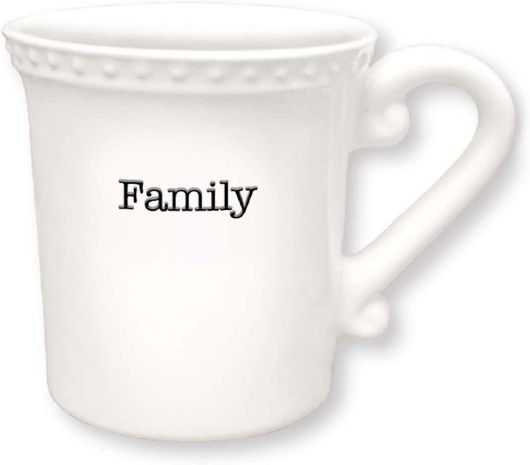Divinity Boutique Family 12 Ounce Glossy White Ceramic Stoneware Coffee Mug